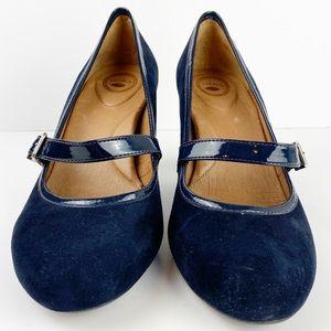 Nurture by Lamaze Shoes - Navy Suede Leather Mary Jane Lumps Nurture U223